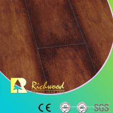 Assoalho estratificado impermeável do bordo da textura do Woodgrain de 12.3mm E1 AC4