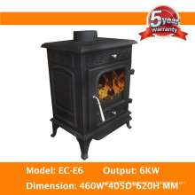 Contempory Room Heater 6kw Cast Iron Solid Fuel Stove
