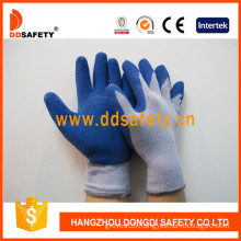 Ddsafety Knitted Working Gloves Coating Blue Latex (DKL329)