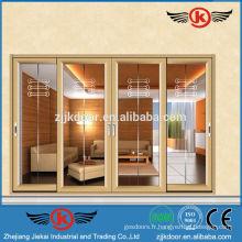 JK-AW9124 Portes et fenêtres de porte de verre à quatre vantaux supérieures