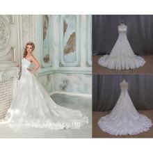 Высокое Качество Кружева Аппликация Свадебные Платья Свадебные Платья