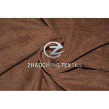 Micro suède tricoté extensible 2 façons avec sens vertical et toucher très doux pour les vêtements et la maison