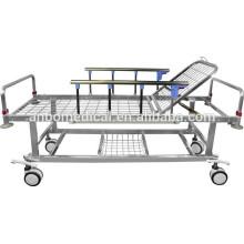 hospital stainless steel emergency trolley