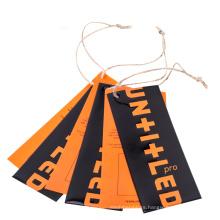 Custom Cheap Design Printing Name Garment Hang Tag Clothing Tag Label For Clothing