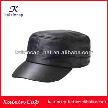 chapeaux militaires de cadet en gros / chapeaux militaires faits sur commande d'armée de cuir / chapeau militaire de haute qualité avec votre propre conception