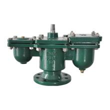 Válvula de ar de orifício duplo com flange