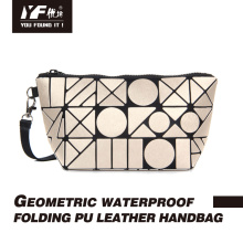 Геометрическая водонепроницаемая складная вечерняя сумка из искусственной кожи