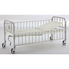 Semi-fowler child bed with stainless steel head/foot board & side rails B-35