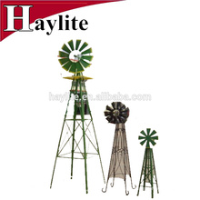 Pequeño molino de viento portátil de jardín de metal como lowes decorativo