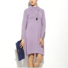 17PKCS159 2017 women winter warm trendy 85/15 cotton cashmere dress