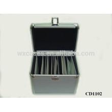 Caja de CD CD 100 discos aluminio con piel del panel del ABS por mayor de China fabricante