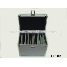 100 CD disks aluminum CD case with ABS panel skin wholesales from China manufacturer