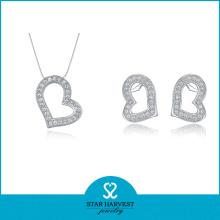 2016 Best Quality Women Necklace Silver Jewelry (J-0001)