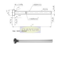 1.2344 cabeza cilíndrica con pin expulsor nitrurado (tipo fiat)