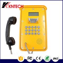 Тоннель Телефон VoIP Телефон Knsp-16 ЖК-Водонепроницаемый прочный Промышленный Телефон