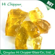 Jardín amarillo rocas de cristal decorativas