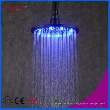 Fyeer Banheiro Chuveiro Acessório Latão Preto LED Chuva Cabeça de Chuveiro
