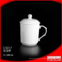 nuevo producto de la taza de cerámica de loza blanco estupendo de guangzhou