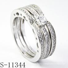 Уникальное кольцо из циркония с элементами золота и серебра 925 (S-11344)