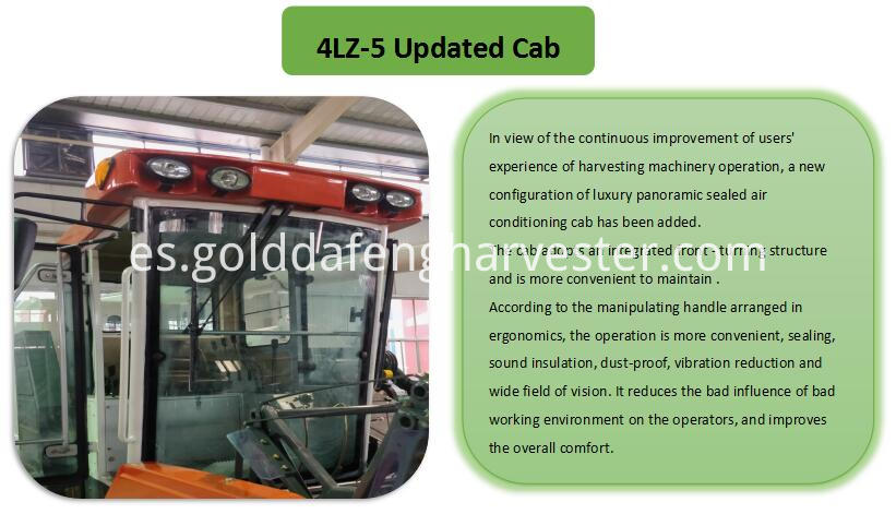 updated cab for rice harvesting