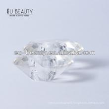 Round diamond shape transparent surlyn cap