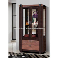 Vitrina, vitrina de madera, gabinete Curio