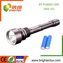 Fabrik Versorgung Aluminium Taktische 2 * 18650 Akku 1000 Lumen 10w Cree Die meisten leistungsstarke Heavy Duty führte wiederaufladbare Taschenlampe