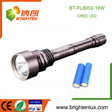 Factory Supply Aluminium Tactical 2 * 18650 batterie 1000 lumen 10w Cree Le plus puissant Heavy Duty led torche torche rechargeable