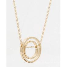 Geometria amor anel colar longo moda joias
