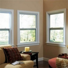 Aluminium Single Hung Windows with Single Glass