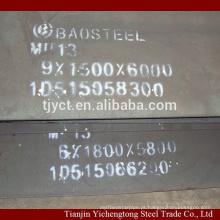 Placa de aço manganês alta Mn13 / x120Mn12 / 1.3401