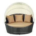 Outdoor Leisure Furniture Pe Wicker Design Sunbed
