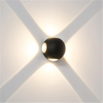 Black Ball Four Bulb - Lámpara de pared LED para exteriores