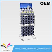 Rack de exhibición de la botella de la fila 2 del diseño del OEM para las botellas de soda