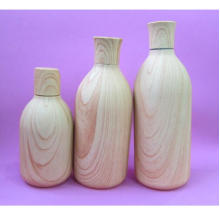 250ml and 500ml Wooden Color Bottle with Wooden Color Cap