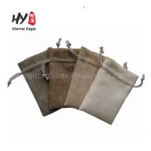 Disen Custom promotional cheap printing linen drawstring bag