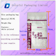 sacos de empacotamento do arroz para a venda / 50lb sacos de empacotamento do arroz / sacos de empacotamento recicl do arroz