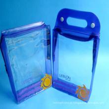 Saco de plástico feito sob encomenda relativo à promoção pequeno pequeno do Toiletry do Pvc do logotipo