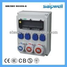 Boîtier de prise de courant IP67 avec prise 3Pcs 16A / 3P