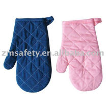 Funny heat resistant cotton oven gloves with fingers ZMR77