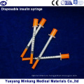 Jeringas de insulina desechables de 1cc Jeringas de insulina de 0.5cc Jeringas de insulina 0.3cc (ENK-YDS-045)