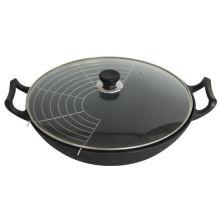 Traditional Black Cast Iron Wok