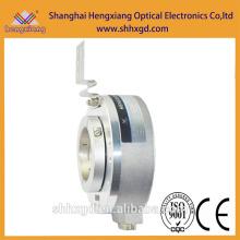 Codificador Hengxiang K100 Potenciômetro rotativo 10k Medição de distância Codificador de eixo oco Fase ABZ, saída PNP
