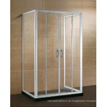 Drei Seiten Alkoven Glas Duschabtrennung