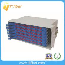 Caja de la terminación del núcleo ODF 96 / caja de la unidad de cableado del empalme de la fibra del ODF