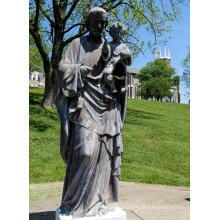 Fundição de fundição de bronze Jesus pai e filho estátua para jardim