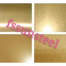 Stainless steel color sheets NO.4 GOLD PVD