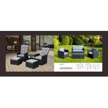 Round rattan sofa set for beach