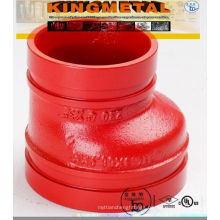 FM/UL Approved Grooved Eccentric Reducer (grooved pipe fittings)