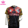 100% polyester kaus rugby disublimasikan